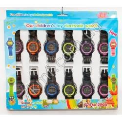 Електронные часы цветные 7756 ( 12 шт. в уп.)