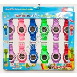 Електронные часы разноцветные 7756 ( 12 шт. в уп.)