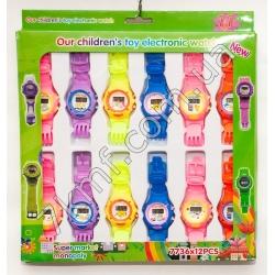 Електронные часы разноцветные 7736 ( 12 шт. в уп.)