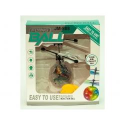 F127 Игрушка №РС-398 прозр. летающ. шар сенсор. LED подсвет. USB зарядка с пультом (23*16*4,5)см (120)