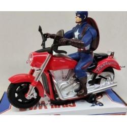 "Мотоцикл ""Captain America"" на бат.музыка+свет"
