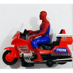 Интерактивный герой Spiderman на мотоцикле. Свет,звук