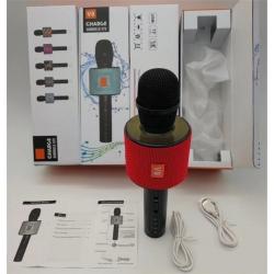 Микрофон с функцией караоке V8 White Karaoke Charge