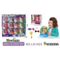 Игрушка бюст куклы с длинными волосами №LK1022 (10,4*8,6*10,8) см (216)