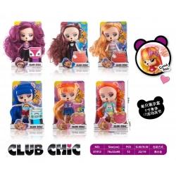 """Игрушка №01912 Кукла """"РЕТ"""" с длинными волосами 6 цв. (23,5*14*8*8,5)см (72)"""