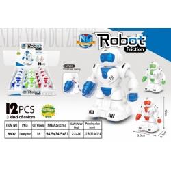 "Игрушка ""робот"" (9,5*6,3*12)см упаковка 12 шт и 3 цвет №8807 (216/12)"