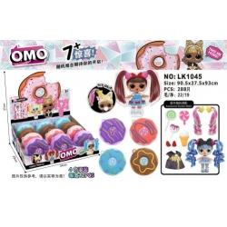 Игрушка Кукла с длинными волосами в шаре Пончик 12 шт в уп №LK1045 (288/12)