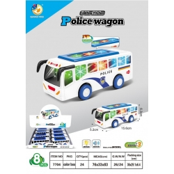 """Игрушка музыкальная светящаяся """"полицейский автобус""""(5.2*15.6*6.3)см упаковка 8 шт №7704 (192)"""