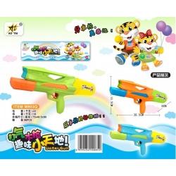 Игрушка №M903Q водяной пистолет с насосом 2цвета в клеёнке (38,5*16,5*8)см(96)