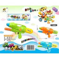 Игрушка №M822Q водяной пистолет с насосом 2цвета в клеёнке (42*18*7,5) см (72)