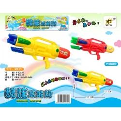 Игрушка №M813 водяной пистолет с насосом 2цвета в клеёнке (63,5*26*12,5)см (24)