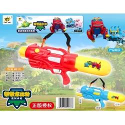 Игрушка №M811L водяной пистолет с насосом 2цвета в клеёнке (68*26*13)см (18)