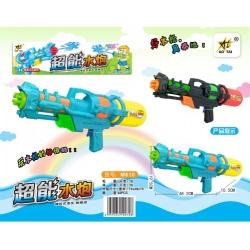 Игрушка №M810 водяной пистолет с насосом 2цвета в клеёнке (48*18,5*10,5)см (48)