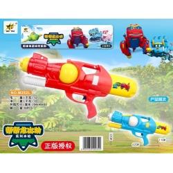 Игрушка №M252L водяной пистолет с насосом 2цвета в клеёнке (62*32*11)см (18)