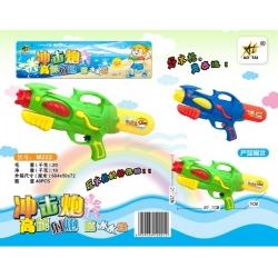 Игрушка №M222 водяной пистолет с насосом 2цвета в клеёнке (49,1*21,2*9)см (48)
