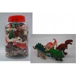 Игрушка №JL9406 резиновая Динозавр в банке 55шт (540)