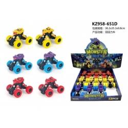 Игрушка инерционная №KZ958-651D внедорожник в упак 12 шт 3цв (11*8)см (192)