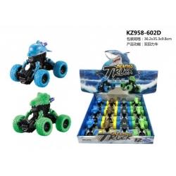 Игрушка инерционная №KZ958-602D недорожник в упак 12 шт . 4 вида и 4цв (10*8)см(192)