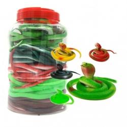 Игрушка №JL9405 резиновая Змея 75см в банке 45шт (540)