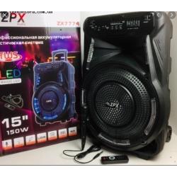 Артикул: k9758 Аккумуляторная акустическая система ZPX 150W Model: ZX7774
