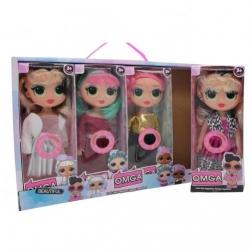 """Игрушка №868А Кукла """"OMGA"""" с цветными волосами (22.5*8.5*6) см (240/4)"""