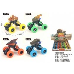 Игрушка инерционная №KZ958-662D внедорожник голова животного в упак 12 шт . 4 вида (12*10)см (192)