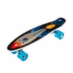 Пенниборд (Penny Board) Smart Drive со светящимися колесами мод. 209 Ракета