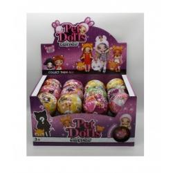 """Игрушка №LK1091 Кукла """"Pet Doll"""" шарик-сюрприз с аксессуарами (10см) в уп.24шт (192/24)"""