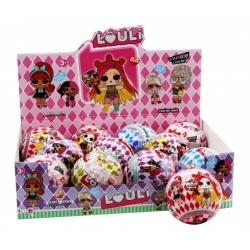 """Игрушка №21125 кукла """"L.O.U.L.i."""" шарик сюрприз-угадай кто я? (10см) в уп.12шт (288/12)"""