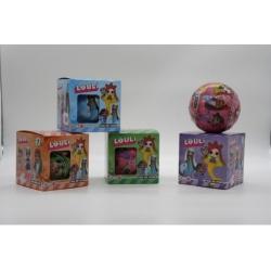"Игрушка №21116 Кукла ""L.O.U.L.i"" Fashion Русалочка шарик-сюрприз в кор.(9.5см) в уп.1шт 4цв (288)"