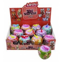 """Игрушка №21112 кукла """"L.O.U.L.i."""" Na!Na!Na! яблоко капилка с аксессуарами (10см) в уп.12шт (288)"""