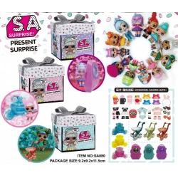 "Игрушка №SA080 кукла ""S.A. Surprise"" сюрприз с аксессуарами в кор. (9,5*9*12)см (240)"