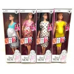 """Игрушка №LK6001 Кукла """"Pretty MOM"""" мама с ребенкам (33*10*6)см 4цв (128)"""