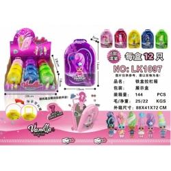 "Игрушка №LK1097 Кукла ""Vanilla surpise"" чемодан с сюрпризами (5*14*10)см в уп.12шт 6цв (144/12)"