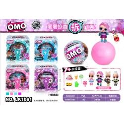 """Игрушка №LK1061 кукла """"ОМО"""" шарик-сюрприз в кор. (10см) в уп.1шт 4цв (192)"""
