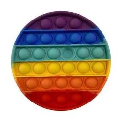 Пузырчатая игрушка Pop It Fidget разноцветная в форме Круга