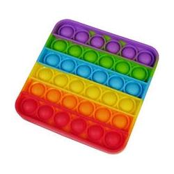 Антистресс сенсорная игрушка Pop It, поп ит квадратная радуга