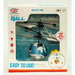 F125 Игрушка №РС-888 прозр. летающ. шар сенсор. LED подсвет. USB зарядка с пультом (23*16*4,5)см (120)