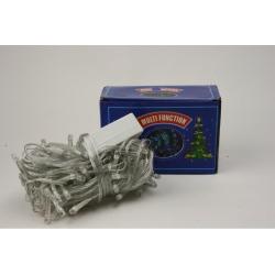 E12 Гирлянда №NC127-100-С прозр. 5шнур. 8функ. 100LED синий цв. 8м 220v (100)