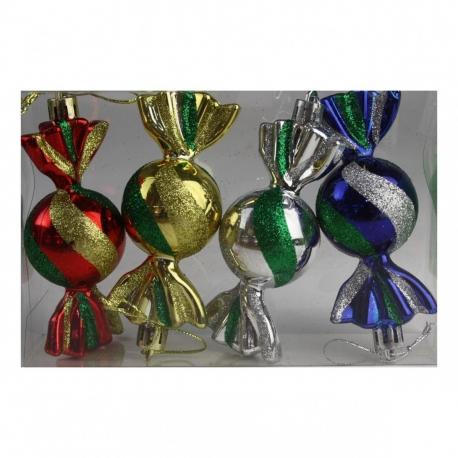 E14 Игрушка №DC-9156-2 конфета цветная, 4шт, ПВС-коробка (160)