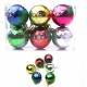 E37 Игрушки №YH-14052-6 новог шары висяч. пл с рис. снег+листья 6цв 6см (14,5*9,7*4,8) (120)