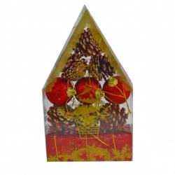 E62 Набор №DC37-7019 украшений, в ПВС-коробке, 6 цветов, в коробке один цвет, микс цветов в ящике (150)
