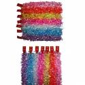 E63 Новогодний дождик №HD-1 мишура 2м разноцветный 7цветов 14шт в кл. (1190)