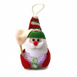 E112 Ночник №ZXY-5 снеговик пл. 3бат. AG1 с палкой и шапкой бел. 2цв 1шт в кл. (12*6*5,5)см с код. (240)