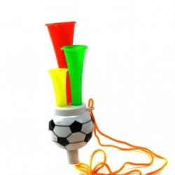 Игрушка пл. труба футб. с верёв. (4,5*13,5)см в кл. 1шт с кодом (480)№2008-3