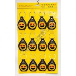 брелки смайлик улыбка круглые ( 12 шт.в упаковке)